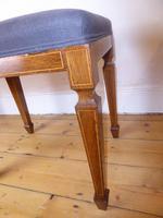 Scottish Rosewood Upholstered Stool (7 of 8)