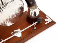 Cow Horn & Oak Decorative Gong with Original Striker (3 of 4)