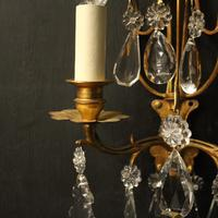 French Pair of Gilded Twin Arm Wall Lights (5 of 10)