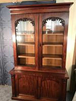 Quality Victorian Mahogany Library Bookcase (14 of 14)