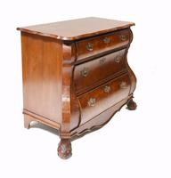 Dutch Bombe Commode Antique Chest of Drawers 1920 (6 of 13)