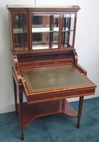 Edwardian Inlaid Mahogany Bonheur Du Jour Desk (2 of 7)