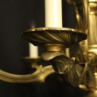 French Gilded Bronze Antique 6 Light Chandelier (4 of 10)