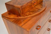 Art Deco Figured Walnut Chest of Drawers (9 of 12)