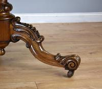 Victorian Walnut Marquetry Inlaid Circular Table (10 of 15)