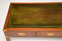 Antique Military Campaign Style Mahogany Leather Top Coffee Table (6 of 10)