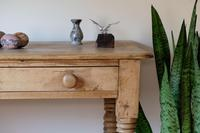 19th Century Pine Hall Table with Single Long Drawer (10 of 19)