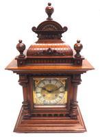 German Carved-Oak 8-Day Mantel Clock by Junghans (9 of 13)
