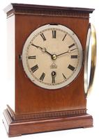 Superb Timepiece Mantle Clock -  Antique 8 Day Mahogany Dent Of London Carriage Mantel Clock (3 of 9)