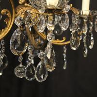 Italian Gilded Brass 5 Light Antique Chandelier (9 of 10)