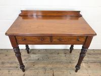 Antique Victorian Mahogany Two Drawer Side Table (4 of 15)