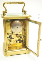 Good Antique French 8-day Carriage Clock Bevelled Case with Bell Alarm Feature (10 of 13)