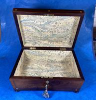 William IV Rosewood Box with Mother of Pearl Inlay (12 of 13)