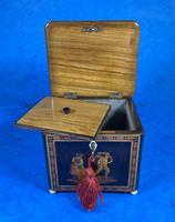 Mid Victorian Sorento Ware Inlaid Single Tea Caddy (5 of 7)