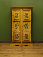 Vintage Indian Folk Art Bohemian Painted Cabinet Larder Linen Press Cupboard (3 of 13)