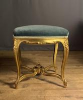 Beautiful French Giltwood Dressing Table Stool (8 of 12)