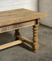 Superb Quality Large Bleached Oak Farmhouse Dining Table (7 of 32)