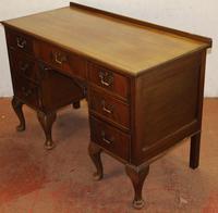 1920s Mahogany Pedestal Desk on Cab Legs. 1 Piece (3 of 4)