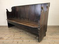 Rustic Antique Country Oak Settle Bench (3 of 14)