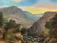 William R Stone Lovely Dolgilly North Wales Landscape Painting (8 of 13)