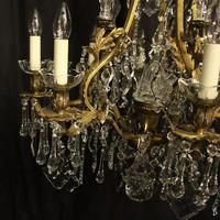 French Gilded Bronze 11 Light Antique Chandelier (2 of 10)