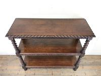 Antique Victorian Carved Oak Three Tier Display Shelves (5 of 10)