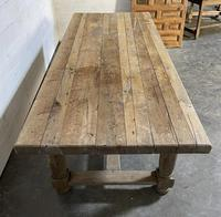 Rare Large & Deep Oak Farmhouse Dining Table (8 of 31)