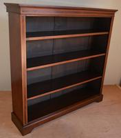 Mahogany Inlaid Open Bookcase (3 of 4)