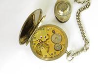 1940s Doxa Pocket Watch, Chain & Compass Fob (4 of 5)