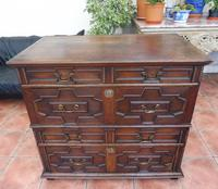 Country oak 4 drawer chest of drawers splits into 2 (10 of 10)