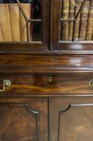 Antique 19th Century Mahogany Breakfront Bookcase (4 of 12)