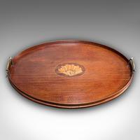 Antique Serving Tray, English, Mahogany, Brass, Boxwood Inlay, Georgian c.1800 (5 of 10)