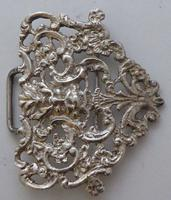 Victorian 1899 Hallmarked Solid Silver Nurses Belt Buckle Charles May of London (4 of 8)