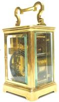 Good Antique French 8-day Repeat Carriage Clock Bevelled Case with Enamel Dial Gong Striking (9 of 15)