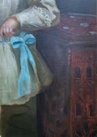 Gilbert Baldry (1876-1928) A Large Exceptional Edwardian Oil Portrait Painting (11 of 14)