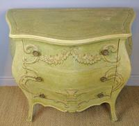 Vintage Italian Painted Bombe Commodes Harrods (7 of 10)