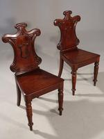 Attractive Pair of Mid 19th Century Mahogany Hall Chairs (2 of 4)