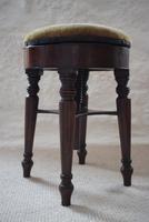 Victorian Mahogany Circular Revolving Piano Stool (9 of 9)