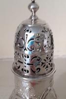 Antique George 1 Britannia Silver Caster - 1715 (6 of 6)