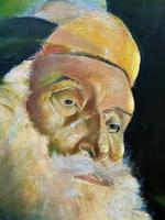 Early 1900s Oil Portrait Painting of Elderly Bearded Indian Gent (5 of 12)
