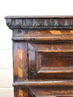 Antique Geometric Oak Chest of Drawers (4 of 10)