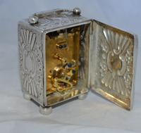Victorian 1894 Silver Carriage Clock (4 of 5)