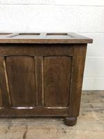 Vintage Oak Panel Blanket Box or Coffer Chest (7 of 15)