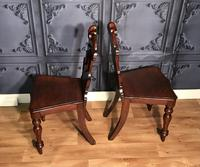 Pair of Victorian Mahogany Hall Chairs 318 (3 of 14)