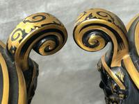 Pair of Fine 19th Century Antique Victorian Porcelain Zeus Chariot Pegasus Vases (8 of 10)
