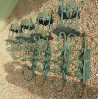 Antique Spanish Style Wrought Iron Wall Scones Set of Four (8 of 8)
