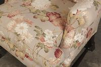 Chippendale Style Floral Upholstered Wing Chair (9 of 16)