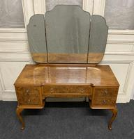 Antique Queen Anne Burr Walnut Dressing Table