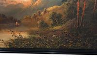 Pair of Romantic Oil Paintings English Landscape Barnstable Devon (5 of 9)