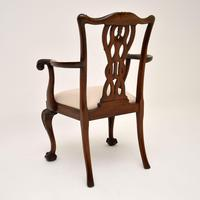 Set of 8 Antique Mahogany Chippendale Style Dining Chairs (6 of 12)